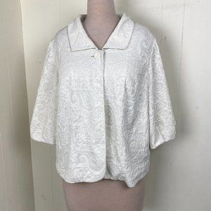 Maggie Barnes White Vintage Inspired Blazer Jacket